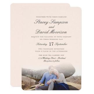 Elegante Foto-Hochzeit 12,7 X 17,8 Cm Einladungskarte