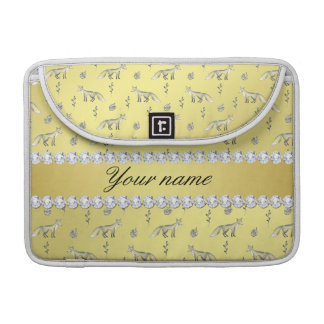 Elegante Fox-Imitat-Goldfolie Bling Diamanten Sleeve Für MacBooks