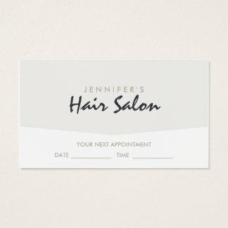 Elegante Friseursalon-Verabredung Visitenkarte
