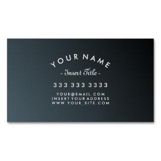 Elegante gebogene Text-Kadett-Schwarz-Steigung Visitenkartenmagnet