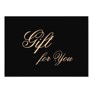 Elegante Geschenk-Karte für bedeutungsvolle 11,4 X 15,9 Cm Einladungskarte