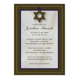 Elegante Gewebe-Bar Mitzvah Einladung in Brown