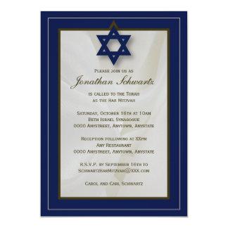 Elegante Gewebe-Bar Mitzvah Einladung in der