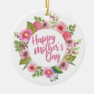 Elegante glückliche Blumen| Verzierung der Mutter Keramik Ornament