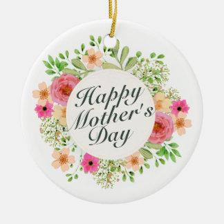 Elegante glückliche Blumenverzierung der Mutter Keramik Ornament