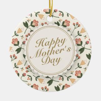 Elegante glückliche rahmen-Verzierung der Mutter Keramik Ornament