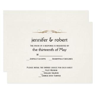 Elegante GoldAquarell-Hochzeits-Wartekarte 8,9 X 12,7 Cm Einladungskarte
