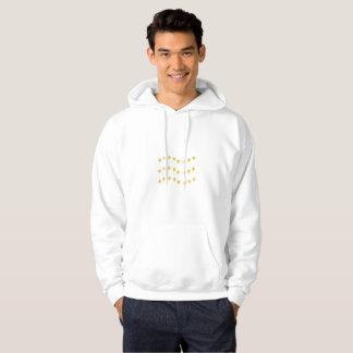 Elegante goldene gewellte Linien Entwurf Hoodie