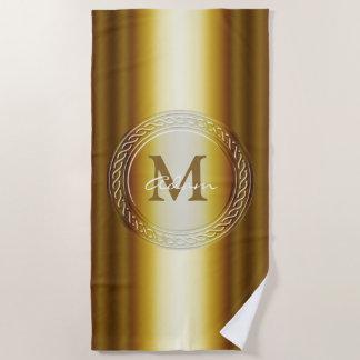 Elegante goldene perfekte Geschenke des Strandtuch