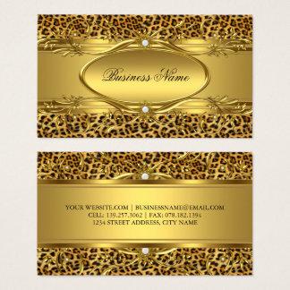 Elegante Goldleopard-Druck Visitenkarte Visitenkarte