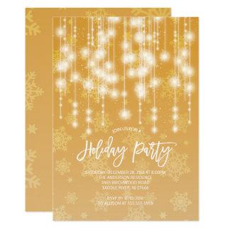 Elegante Goldlicht-Feiertags-Party Einladung
