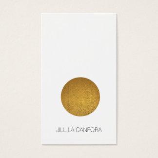 Elegante Goldpunkt-Visitenkarte Visitenkarten