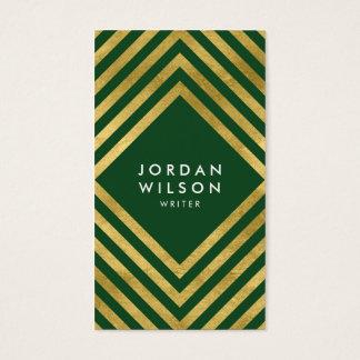 Elegante grüne Imitat-Goldsozial-Medien Visitenkarte