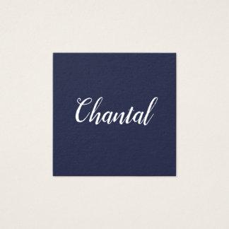 Elegante handgeschriebene unbedeutende blaue quadratische visitenkarte
