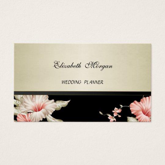 Elegante hoch entwickelte moderne Blumen Visitenkarte