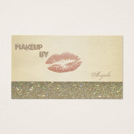 Elegante hoch entwickelte moderne Glittery Lippen Visitenkarte
