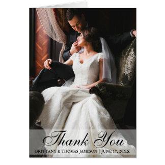 Elegante Hochzeit danken Ihnen Foto-faltende Karte