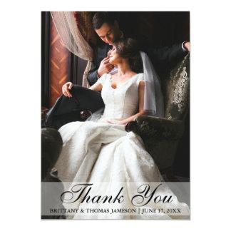 Elegante Hochzeit danken Ihnen Foto-Karte Karte