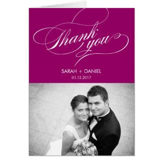 ELEGANTE Hochzeit danken Ihnen Foto-Karte Mitteilungskarte