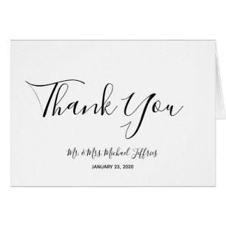 Elegante Hochzeit danken Ihnen Karte