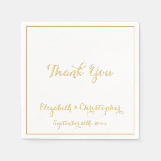 Elegante Hochzeit danken Ihnen Serviette