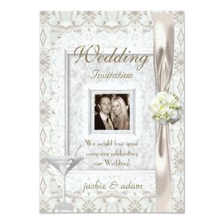 Elegante Hochzeit lädt ein 12,7 X 17,8 Cm Einladungskarte