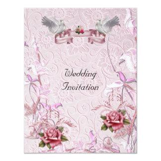 Elegante Hochzeit lädt ein 10,8 X 14 Cm Einladungskarte
