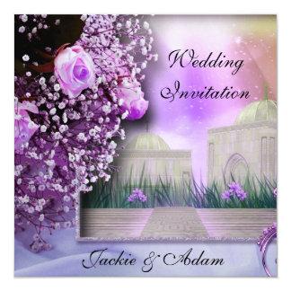 Elegante Hochzeit lädt ein Quadratische 13,3 Cm Einladungskarte