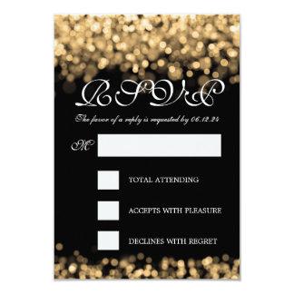 Elegante Hochzeit UAWG Goldlichter 8,9 X 12,7 Cm Einladungskarte