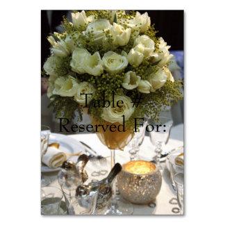 Elegante Hochzeits-Empfangs-Tabelle # Karten