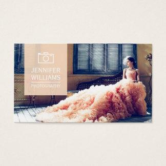 Elegante Hochzeits-Fotograf-Fotografie Visitenkarte