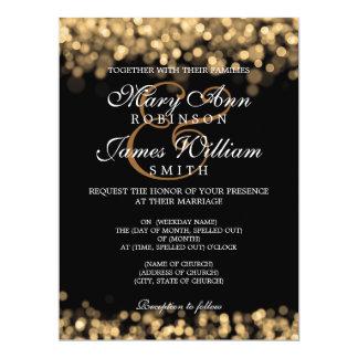 Elegante Hochzeits-Goldlichter 16,5 X 22,2 Cm Einladungskarte