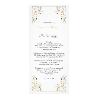 Elegante Hochzeits-Programm-Schablone Werbekarte