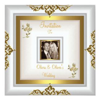 Elegante Hochzeits-verziertes weißes mit Karte