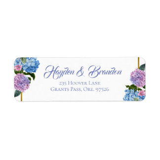 Elegante Hydrangea-Adressen-Etiketten
