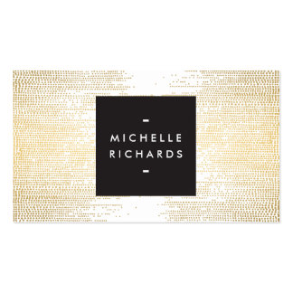 Elegante Imitat-Goldconfetti-Punkte auf Weiß II Visitenkarten