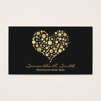 Elegante Imitat-Goldfolien-Herz-Geschäfts-Karte Visitenkarte