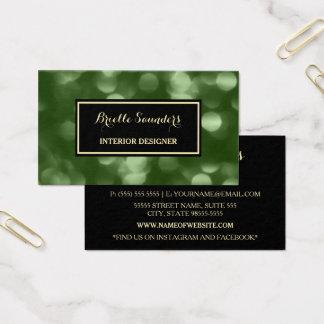Elegante Innenarchitektur bezauberndes grünes Luxe Visitenkarten