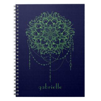 Elegante Jeweled Zen-Mandala Spiral Notizblock