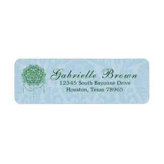 Elegante Jeweled Zenmandala-Rücksendeadresse