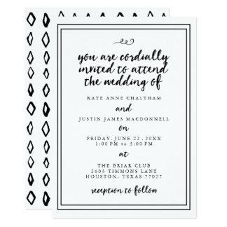 Elegante Kalligraphie-Hochzeits-Einladungen Karte