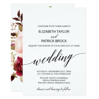 Elegante Kalligraphie mit 12,7 X 17,8 Cm Einladungskarte