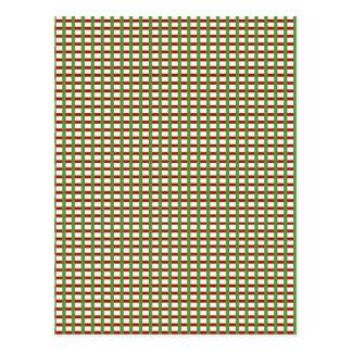 Elegante KAROS: Rotes grünes Weiß addiert Postkarte