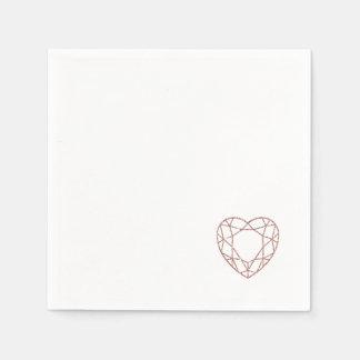 Elegante (kleine) Hochzeitsservietten des Serviette