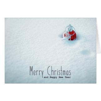 Elegante kleine Weihnachtskarten Karte
