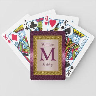 Elegante kundenspezifische mit Monogramm Poker Karten