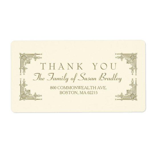 Elegante Kunst-Dekoart Familie danken Ihnen zu Großer Adressaufkleber