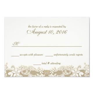 Elegante Land-Hochzeits-Antwort 8,9 X 12,7 Cm Einladungskarte