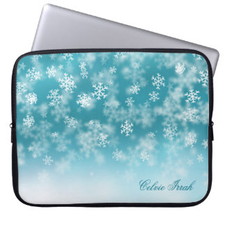 Elegante Laptop-Hülse der Weihnachtsschneeflocke-| Laptopschutzhülle