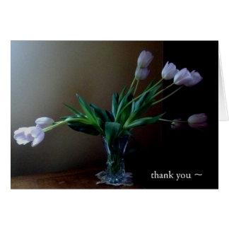 Elegante Lavendel-Tulpe danken Ihnen zu merken Karte